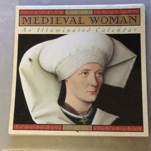 Vintage MEDIEVAL WOMAN Calendar 1994,1995,1996
